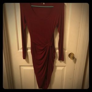 Maroon dress size xs